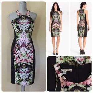 Stunning sheath dress by Maggy London. Sz 6,